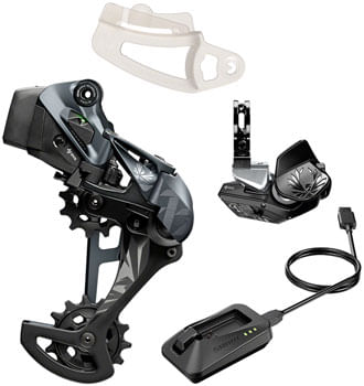 SRAM XX1 Eagle AXS Upgrade Kit - Rear Derailleur for 52t Max, Battery, Eagle AXS Rocker Paddle Controller with Clamp, Charger/Cord, Black