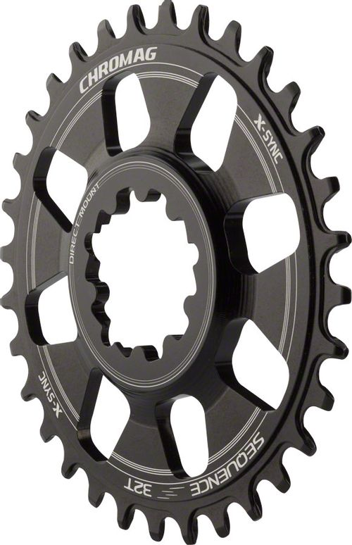 Chromag Sequence X-Sync Direct Mount Chainring: 32T, for SRAM GXP Cranks with Removeable Spiders