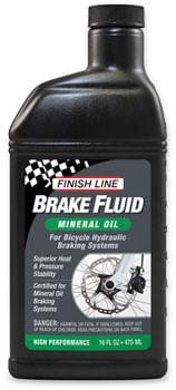 Finish Line Mineral Oil Brake Fluid, 16oz Bottle