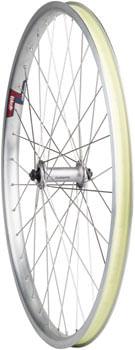 "Quality Wheels Value HD Series Front Wheel - 26"", QR x 100mm, Rim Brake, Silver, Clincher"