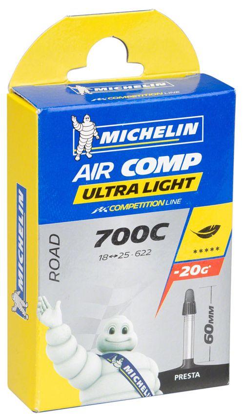 Michelin AirComp Ultra Light Tube, 700x18-23mm 60mm Presta Valve