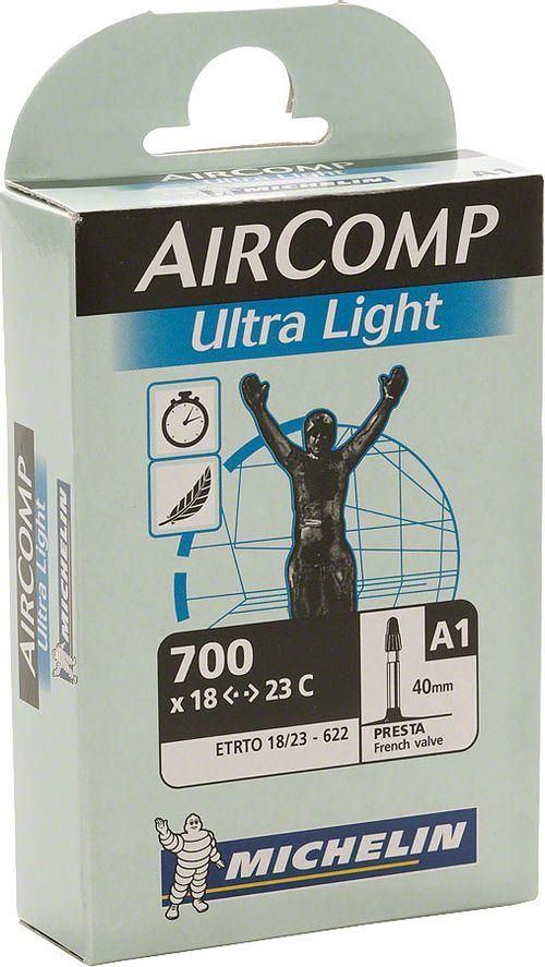 Michelin AirComp Ultra Light Tube, 700x18-23mm 40mm Presta Valve