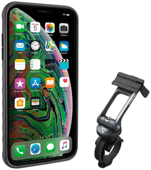 Topeak-Ridecase-with-Mount---Fits-iPhone-XS-MAX-Black-Gray-EC0464