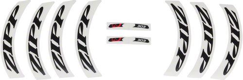 Zipp Decal Set: 303 Matte Black Logo, Complete for One Wheel