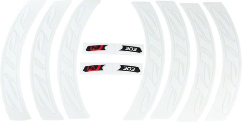 Zipp Decal Set: 303 Matte White Logo, Complete for One Wheel