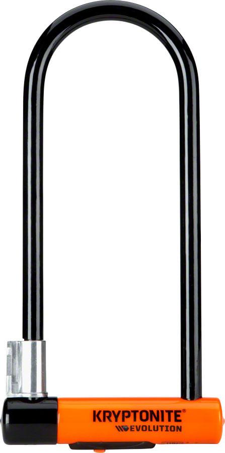 """Kryptonite Evolution Series U-Lock - 4 x 11.5"""", Keyed, Black, Includes bracket"""