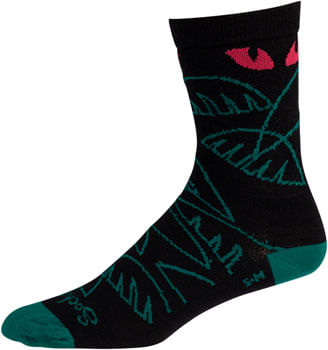 All-City Night Claw Wool Sock - Black, Fuschia, Green, Small/Medium
