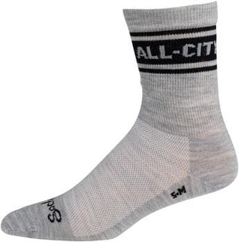 All-City Classic Wool Sock - Grey, Black, Small/ Medium