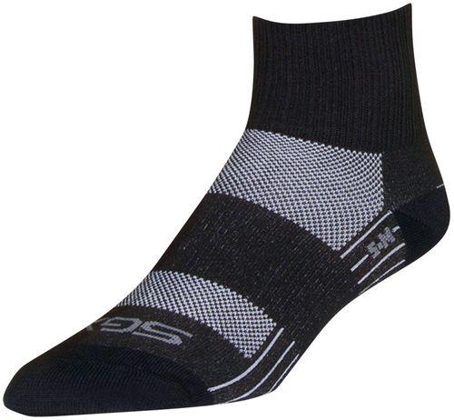 SockGuy SGX Pepper Socks - 2.5 inch, Black, Small/Medium