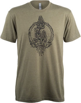 Surly Trail Snacks Men's T-Shirt - Military Green, Black, Small