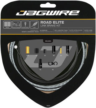 Jagwire Road Elite Link Brake Cable Kit SRAM/Shimano with Ultra-Slick Uncoated Cables, Ltd. Purple