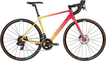 Salsa Warroad Force AXS Bike - 700c, Carbon, Pink/Yellow Fade, 61cm
