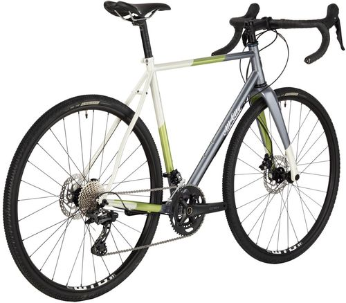 All-City Cosmic Stallion GRX Bike - 700c, Steel, Gunmetal/Sage/Cream Stripe, 61cm